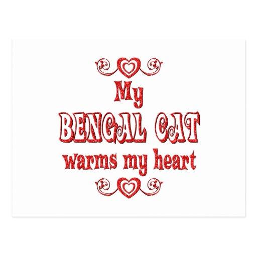 Los gatos de Bengala calientan mi corazón Postal