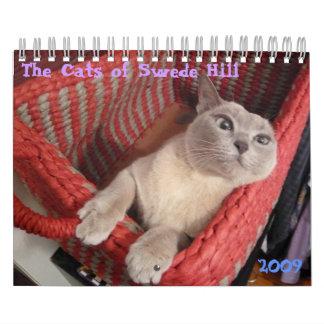 Los gatos de la colina sueco, 2009 calendario