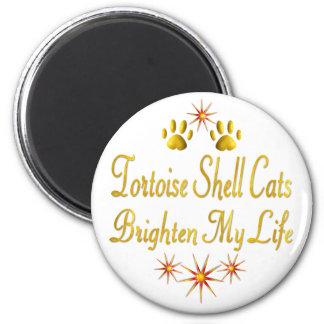 Los gatos de la concha aclaran mi vida imán redondo 5 cm