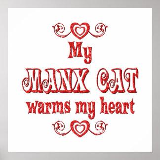 Los gatos de la Isla de Man calientan mi corazón Poster