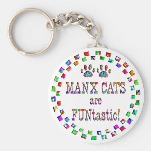 Los gatos de la Isla de Man son Funtastic Llavero