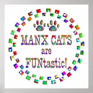 Los gatos de la Isla de Man son Funtastic Posters