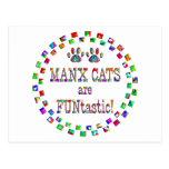 Los gatos de la Isla de Man son Funtastic Postales