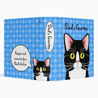 """Los gatos de la receta del papá adaptable de la carpeta 1 1/2"""""""