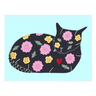 Los gatos de las plantas de las flores del gato ne tarjetas postales