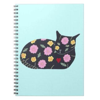 Los gatos de las plantas de las flores del gato notebook