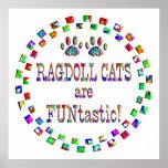 Los gatos de Ragdoll son Funtastic Poster