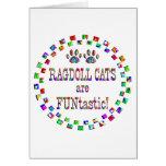 Los gatos de Ragdoll son Funtastic Tarjetas