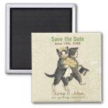 Los gatos del boda ahorran los imanes de la fecha  imanes