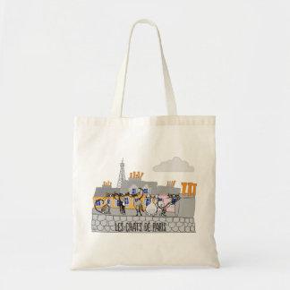 Los gatos del bolso de compras de París Bolsas De Mano