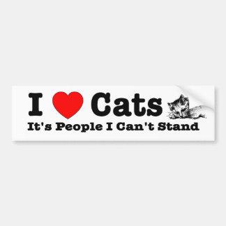 Los gatos del corazón I (amor), es gente que no pu Pegatina Para Auto