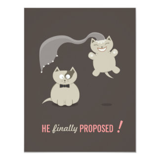 """Los gatos divertidos del dibujo animado - ahorre invitación 4.25"""" x 5.5"""""""