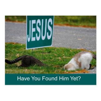 Los gatos encontraron la postal divertida de Jesús
