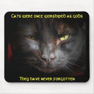 Los gatos eran adorados, ellos no olvidan alfombrilla de ratones