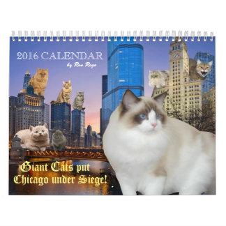 ¡Los gatos gigantes pusieron Chicago bajo cerco! Calendarios