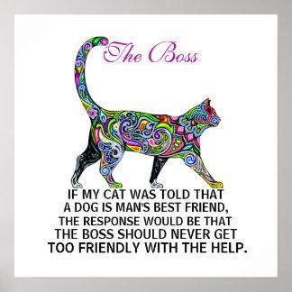 Los gatos gobiernan - Boss - el poster - srf
