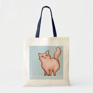 Los gatos gruñones Sue malhumorada rayan el bolso Bolsas