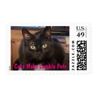 Los gatos hacen a mascotas adorables sello postal