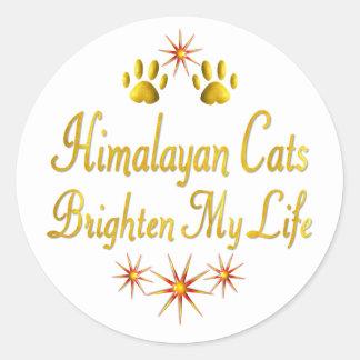 Los gatos Himalayan aclaran mi vida Pegatina Redonda