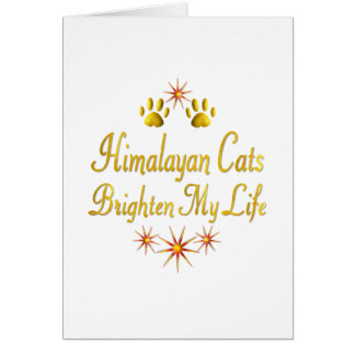 Los gatos Himalayan aclaran mi vida Tarjeta De Felicitación