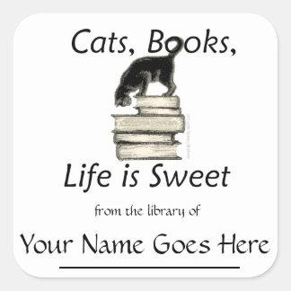 Los gatos libros vida son Bookplates dulces