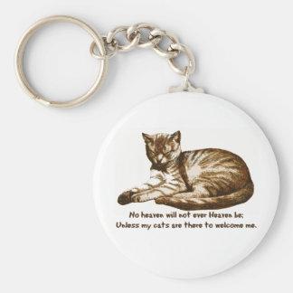 Los gatos me dan la bienvenida llavero redondo tipo pin