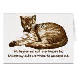 Los gatos me dan la bienvenida tarjeta
