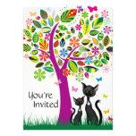 Los gatos negros y la fiesta de bienvenida al bebé comunicado personalizado