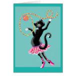 los gatos pueden bailar tarjeta de felicitación