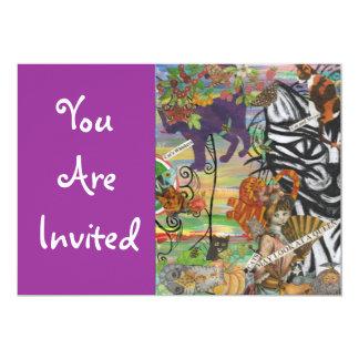 Los gatos pueden mirar invitaciones de una reina invitación 12,7 x 17,8 cm
