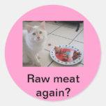 ¡Los gatos pueden ser tan meticulosos! Pegatina Redonda