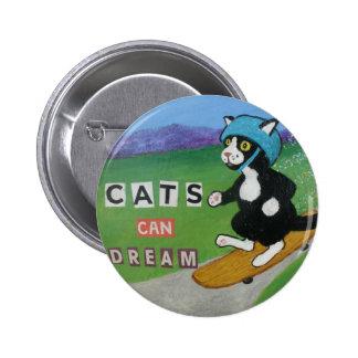 Los gatos pueden soñar pin redondo 5 cm