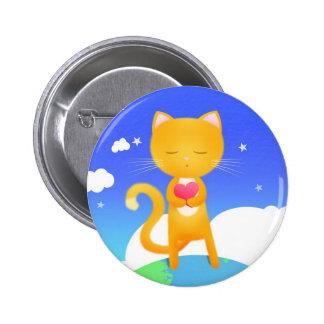 Los gatos quieren la paz de mundo - insignia del p pin redondo de 2 pulgadas