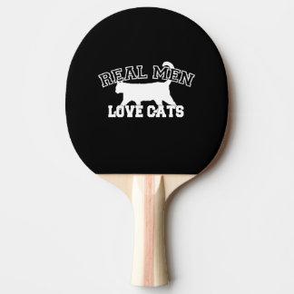 Los gatos reales del amor de los hombres éste son pala de tenis de mesa