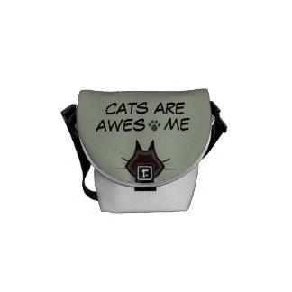 los gatos son bolso impresionante bolsas messenger