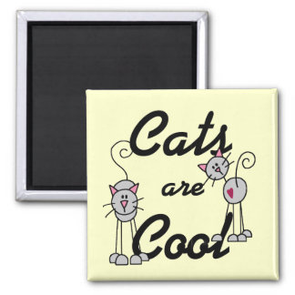 Los gatos son camisetas y regalos frescos imán para frigorífico