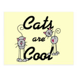Los gatos son camisetas y regalos frescos tarjetas postales