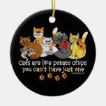 Los gatos son como las patatas fritas adornos de navidad