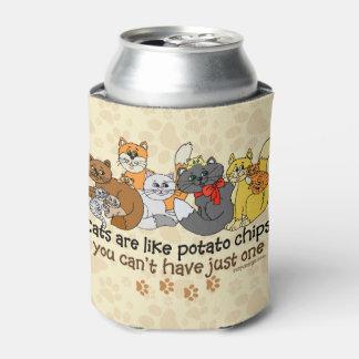 Los gatos son como las patatas fritas enfriador de latas