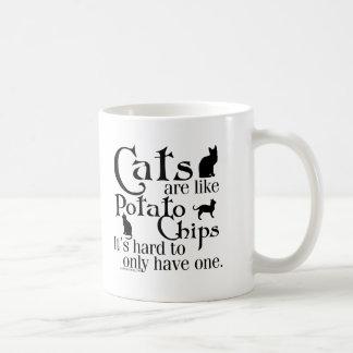 Los gatos son como las patatas fritas… taza de café