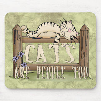 Los gatos son gente también alfombrillas de raton