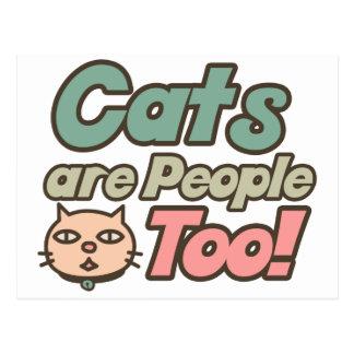 Los gatos son gente también tarjetas postales