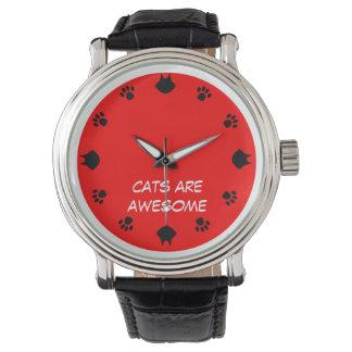 Los gatos son impresionantes relojes de pulsera