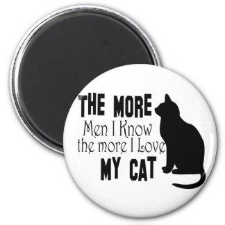 Los gatos son mejores que hombres imán de frigorífico