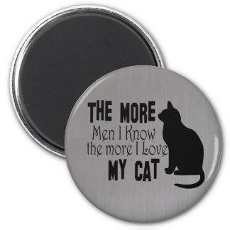 Los gatos son mejores que los hombres grises imán para frigorífico