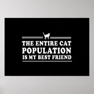 Los gatos son mi mejor amigo impresiones