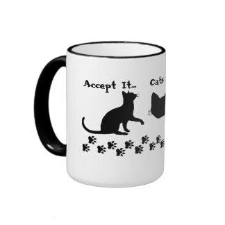 Los gatos son tazas de café responsables