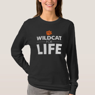 Los Gatos Wildcat for Life Women's Black Tee