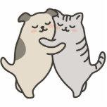 ¡Los gatos y los perros, lo abrazan hacia fuera! Esculturas Fotograficas