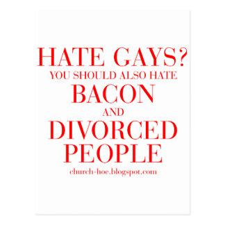 Los gays del odio usted debe también odiar el postal